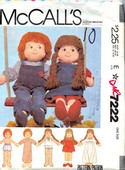McCalls 7222 Soft Doll and Clothes Pattern UNCUT