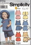 Simplicity 7239 Infant Outfit Hat Pattern UNCUT