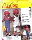 McCalls 7743 Raggedy Ann Andy Costume Pattern UNCUT