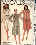 McCall's 7835 Misses' Jacket and Dress