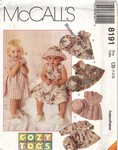 McCalls 8191 Toddlers Dress Hat Pattern UNCUT