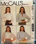 McCalls 8229 Button Down Blouse Pattern UNCUT