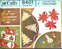 McCalls 8401 Christmas Trims Vintage Pattern UNCUT. Dated 1966.