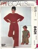 McCalls 8431 Jumpsuit Sewing Pattern UNCUT