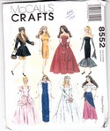 Mccalls 8552 Fashion Doll Clothing Pattern Eight Outtfits Uncut