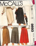 McCalls 8693 Wrap Skirt Pattern UNCUT