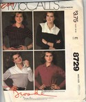 McCalls 8729 Brooke Shields Top Medium Pattern UNCUT