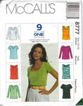 McCalls 8777 Nine Look Top Pattern UNCUT
