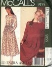 McCalls 9155 Laura Ashley Dress Pattern UNCUT