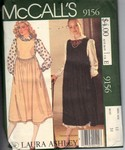 McCalls 9156 Laura Ashley Jumper Pattern Uncut