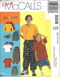 McCalls 9206 CJ Boys Casual Clothing Pattern UNCUT