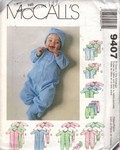 McCalls 9407 Infant Preemie Layette Pattern