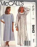 McCalls 9443 Nursing Nightgown Sewing Pattern