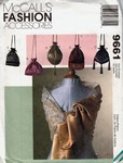 McCalls 9661 Evening Scarf Handbag Pattern UNCUT