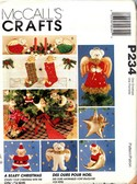 McCalls P234 A Beary Christmas Sewing Pattern UNCUT