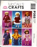 McCalls P353 18 Inch Doll Clothes Pattern UNCUT