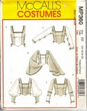 McCalls MP360 Renaissance Top Costume Pattern UNCUT