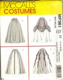 McCall's MP361 Renaissance Skirt Costume Pattern UNCUT
