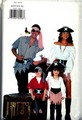 Butterick P425 Pirate Costume Pattern Men Women