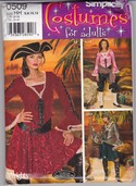 Simplicity 0509 Lady Woman Pirate Costume Pattern UNCUT