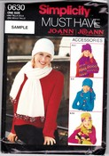 Simplicity 06030 Winter Accessories Pattern Uncut