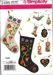 Simplicity 2495 Russian Style Christmas Craft UNCUT