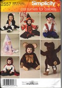 Simplicity 2557 Size A Toddler Halloween Costume Pattern
