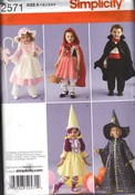 Simplicity 2571 A Child Vampire Bo Peep Witch Pattern