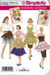 Simplicity 2592 Retro Reproduction Apron Pattern UNCUT