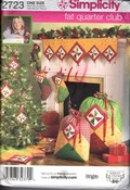 Simplicity 2723 Fat Quarter Club Christmas Decorations Pattern