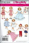 Simplicity 2770 19 Inch Doll Clothes Repro Pattern UNCUT