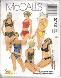 McCalls 2772 Size 16 Two Piece Swimwear Pattern