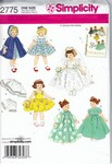 Simplicity 2775 Doll Clothes Pattern 8 Inch UNCUT