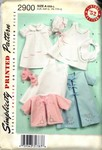 Simplicity 2900 Circa 1952 Reproduction Layette Pattern NEW