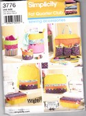 Simplicity 3776 Sewing Accessories Fat Quarter Club Pattern