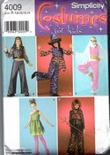 Simplicity 4009 Girls Costume Pattern Multiple Costumes UNCUT