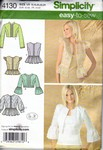 Simplicity 4130 Jacket or Vest Pattern UNCUT