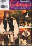 Simplicity 4923 Size BB Men's Large Pirate Costume Pattern UNCU