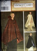 Simplicity 4947 Dramatic Evening Cape Reproduction Pattern UNCUT
