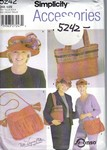 Simplicity 5242 Red Hat Accessories Pattern UNCUT