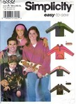 Simplicity 5332 Size A Pullover Top Pattern UNCUT