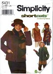 Simplicity 5431 Sz BB Fleece Jacket Pattern UNCUT