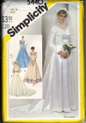 Simplicity 5440 Wedding Dress Vintage Pattern UNCUT