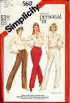 Simplicity 5617 Sz 14 Vintage Stretch Knit Pants Pattern UNCUT