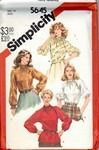 Simplicity 5645 Sz 14 Vintage High Neck Blouse Pattern UNCUT