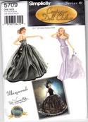 McCalls 5709 Couturier Doll Clothes Pattern Uncut Masquerade