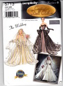Simplicity 5713 Bridal Wedding Doll Clothe sPattern Uncut