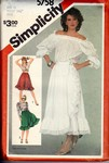 Simplicity 5758 Size 12 Vintage Ruffled Skirt Pattern UNCUT