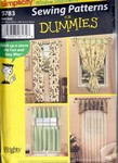 Simplicity 5783 Dummies Window Treatment Pattern UNCUT