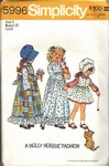 Hollie Hobbie Girls Dress Pinafore Pattern UNCUT